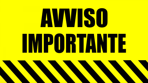AVVISO IMPORTANTE: da lunedì 26 ottobre tutte le lezioni saranno online